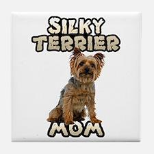 Silky Terrier Mom Tile Coaster