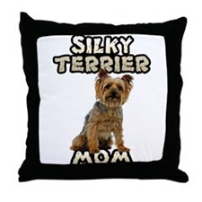 Silky Terrier Mom Throw Pillow