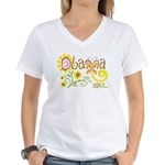 Obama Garden Women's V-Neck T-Shirt