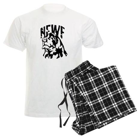 Blackwhite Newf Portrait Men's Light Pajamas