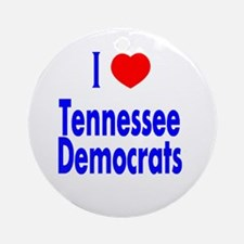 I Love Tennessee Democrats Ornament (Round)