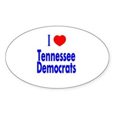 I Love Tennessee Democrats Oval Decal
