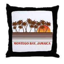 Montego Bay Jamaica Throw Pillow