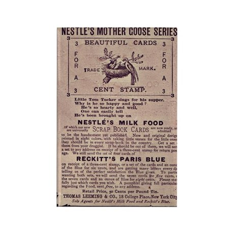 Nestle's Mother Goose Ad Rectangle Magnet