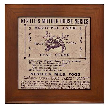 Nestle's Mother Goose Ad Framed Tile