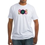 SOS Earth Day Fitted T-Shirt