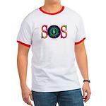 SOS Earth Day Ringer T
