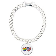 Patriotic Gay Pride Rainbow H Bracelet