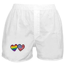 Patriotic Gay Pride Rainbow H Boxer Shorts