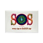 SOS Earth Day Rectangle Magnet (100 pack)