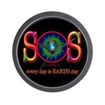 SOS Earth Day Wall Clock