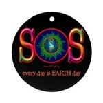 SOS Earth Day Ornament (Round)