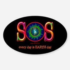 SOS Earth Day Oval Decal