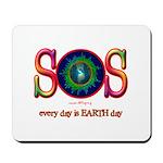 SOS Earth Day Mousepad