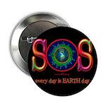 SOS Earth Day Button