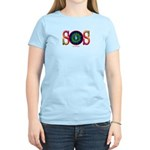 SOS Earth Day Women's Pink T-Shirt