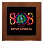 SOS Earth Day Framed Tile