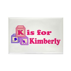Baby Blocks Kimberly Rectangle Magnet (100 pack)