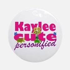 Cute Kaylee Ornament (Round)