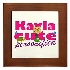 Cute Kayla Framed Tile