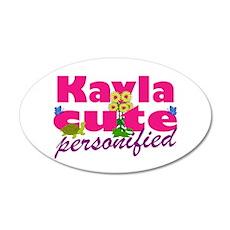Cute Kayla 22x14 Oval Wall Peel