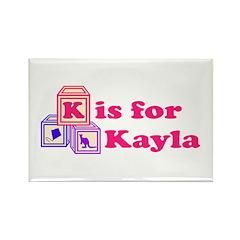 Baby Blocks Kayla Rectangle Magnet (100 pack)
