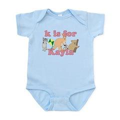 K is for Kayla Infant Bodysuit