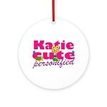 Cute Katie Ornament (Round)