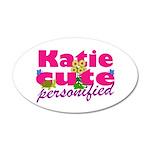 Cute Katie 38.5 x 24.5 Oval Wall Peel