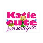 Cute Katie 38.5 x 24.5 Wall Peel