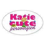 Cute Katie Sticker (Oval)