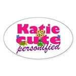 Cute Katie Sticker (Oval 50 pk)