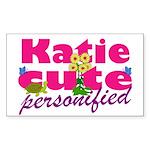 Cute Katie Sticker (Rectangle)