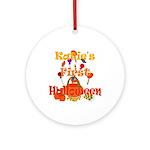 First Halloween Katie Ornament (Round)