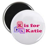 Baby Blocks Katie Magnet