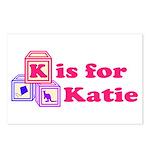 Baby Blocks Katie Postcards (Package of 8)