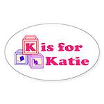Baby Blocks Katie Sticker (Oval)