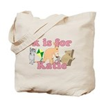 K is for Katie Tote Bag