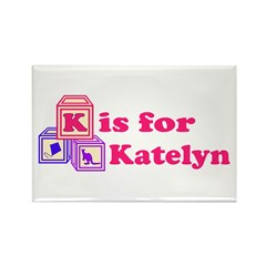 Baby Blocks Katelyn Rectangle Magnet
