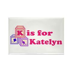 Baby Blocks Katelyn Rectangle Magnet