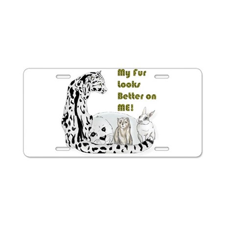 my fur Aluminum License Plate