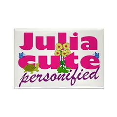 Cute Julia Rectangle Magnet (10 pack)