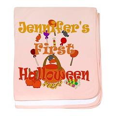 First Halloween Jennifer baby blanket