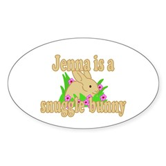 Jenna is a Snuggle Bunny Decal