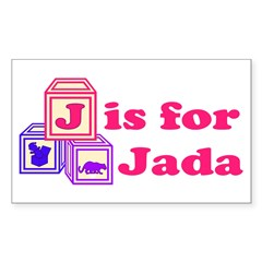 Baby Blocks Jada Decal