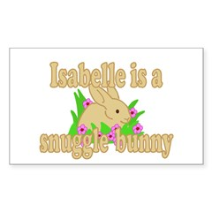 Isabelle is a Snuggle Bunny Decal