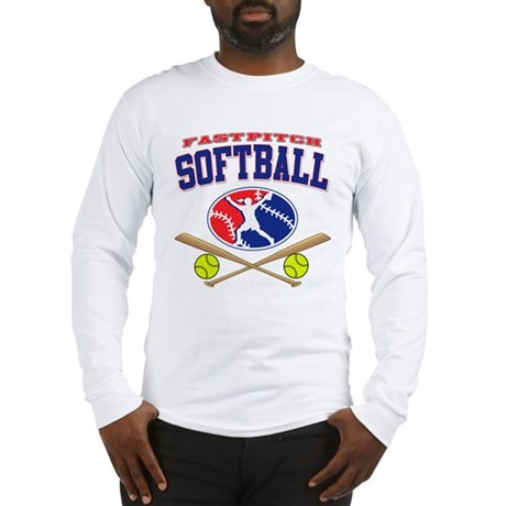 Girls Softball Long Sleeve T-Shirt