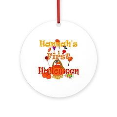 First Halloween Hannah Ornament (Round)