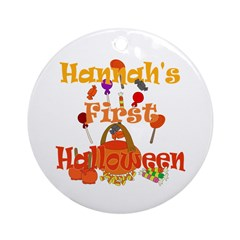 First Halloween Hannah Ornament (Round)