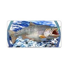 Trout master Aluminum License Plate